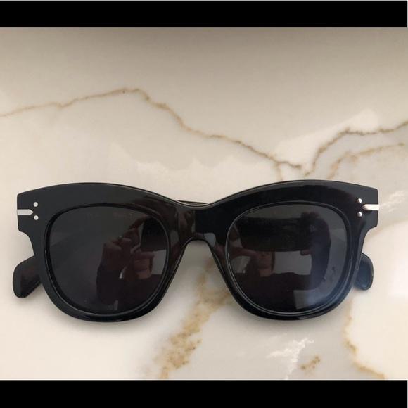 Celine Accessories - Celine black square frame sunglasses